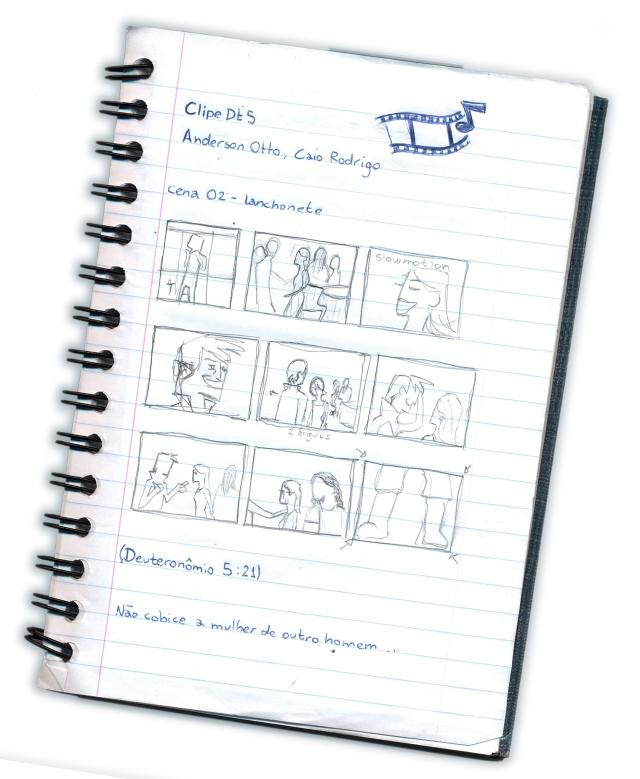 caderneta - story board