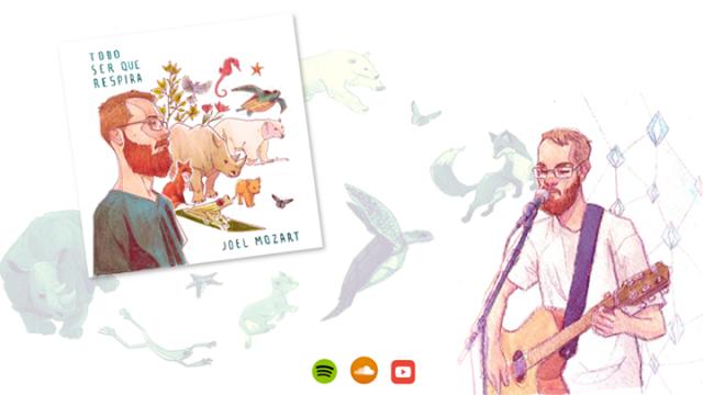 desenho de joel mozart tocando violão