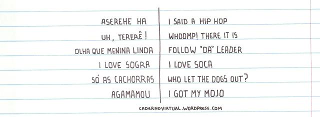 letras das músicas comparadas