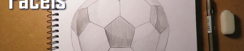 desenhando uma bola de futebol